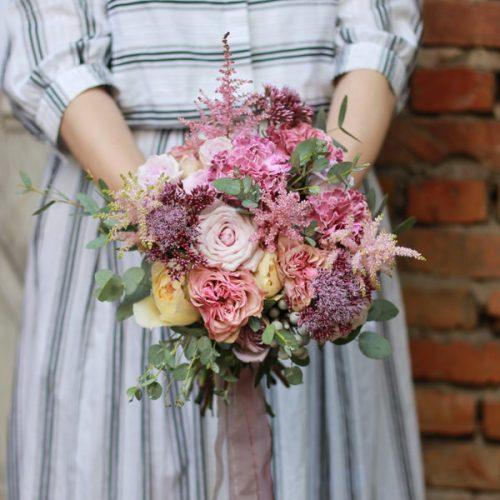 свадебный Букет из свежих цветов купить в Бресте