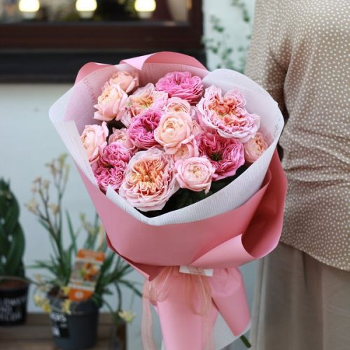 Монобукет из свежих цветов купить в Бресте