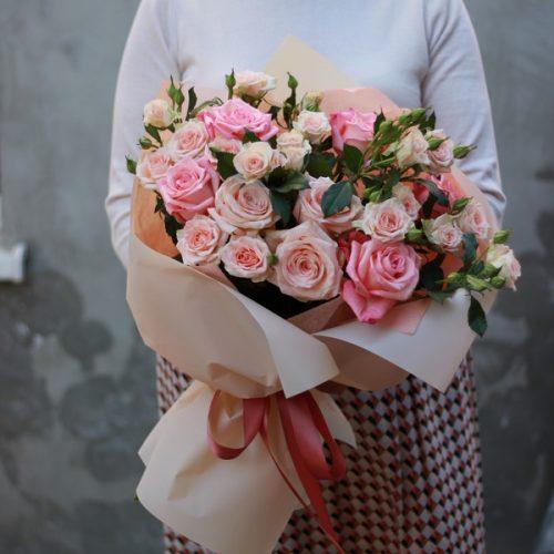 Монобукет из свежих роз купить в Бресте