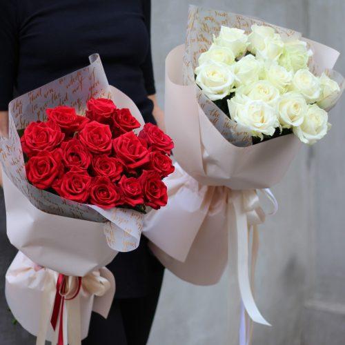 Букет красных роз купить в Бресте с бесплатной доставкой