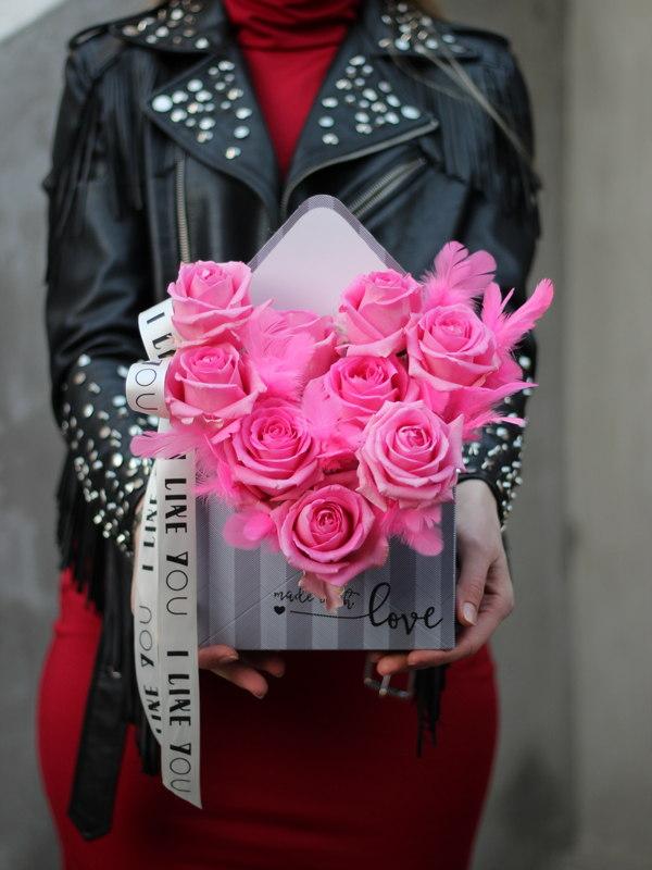 Цветы в конверте купить в Бресте
