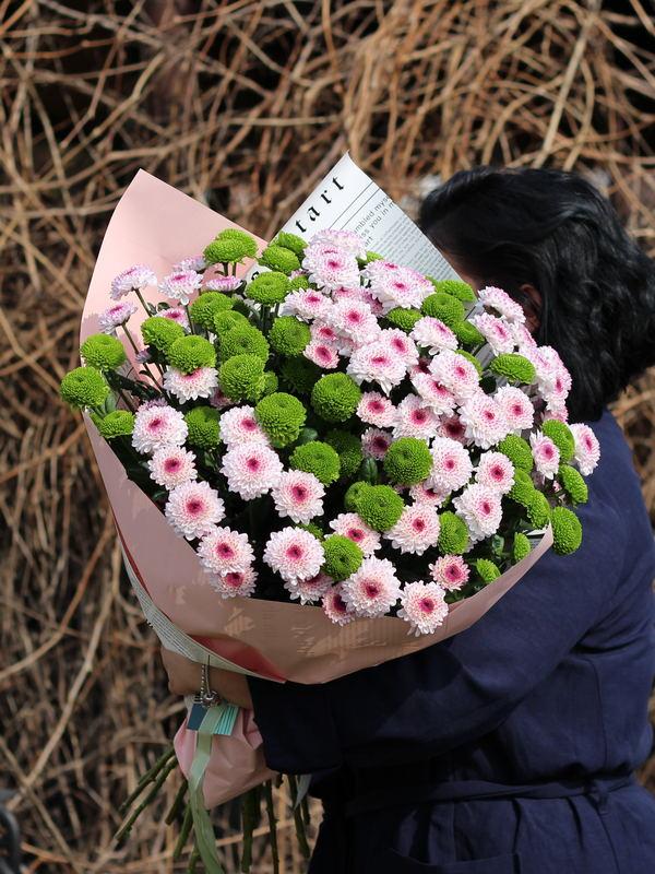 Монобукет из хризантем купить в Бресте