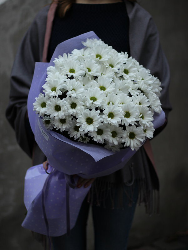 Букет Хризантема ромашковая купить в Бресте